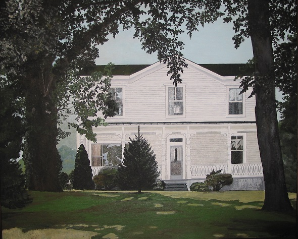 Grandma Hazel's West Virginia Farmhouse, Painted by Patty Reed (my mother) in 1972
