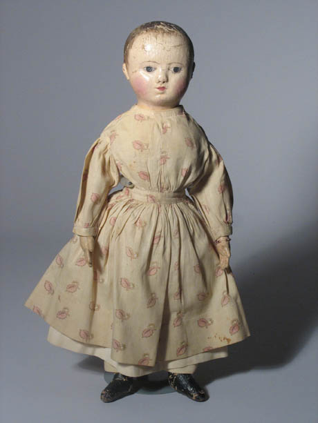 Izannah Walker doll at the Boston Children's Museum  http://www.bostonchildrensmuseum.org/exhibits-programs/collections/dolls-doll-houses