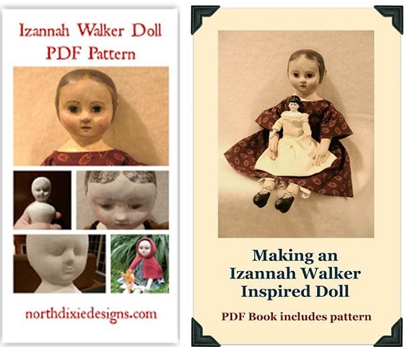 Make your own Izannah Walker doll with Dixie Redmond http://www.northdixiedesigns.com/