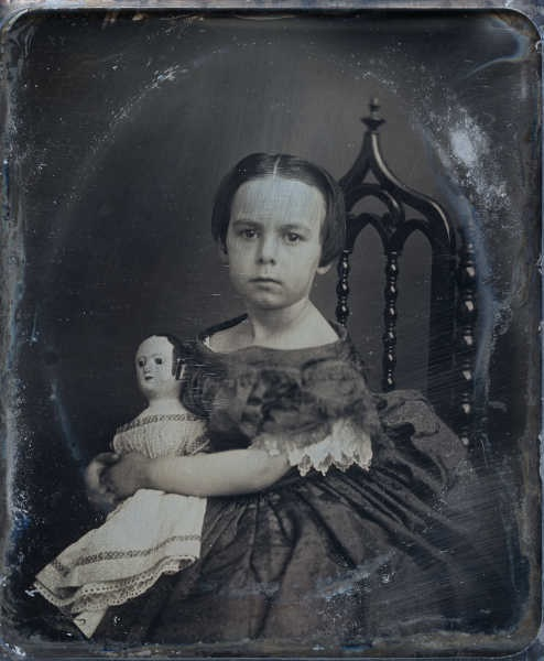 Read about this mesmerizing image and how Elizabeth Isenburg of Steamboat Arabia Museum found the identity and history of this beautiful child and her doll.  There are many photos of girls with their Izannah Walker dolls, but Elizabeth brings this story to life in her fabulous blog:  http://steamboatarabiamuseum.blogspot.com/search?q=izannah+walker